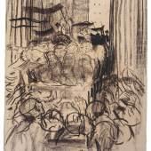 Käthe Kollwitz, Revolution 1918/1928 Kohle, schwarze Kreide auf gelblichem Ingres-Bütten, 60,5 x 46 cm, (NT 1163) Foto © Käthe Kollwitz Museum Köln