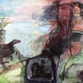 Dagmar Ranft-Schinke Erinnerungen, 1977 Mischtechnik auf Hartfaser 120 x 200 cm Sammlung Neue Sächsische Galerie © VG Bild-Kunst, Bonn 2017