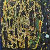 Gunter Damisch, Dunkelfeldsteher, 1992-1993, Öl auf Leinwand, 200 x 170 cm, Courtesy Galerie Elisabeth & Klaus Thoman Innsbruck/Wien