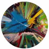 Damien Hirst_beautiful, all round, lovely day, big toys for big kids, Frank and Lorna, when we are no longer children we are already dead painting_£150,000-£200,000