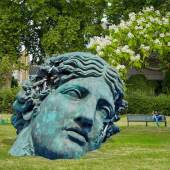 Daniel Arsham, Unearthed Bronze Eroded Melpomene, 2021. Courtesy of the artist and Perrotin