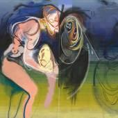 Umkreisung der Lerche, 2018 Oil on canvas Image 200 x 270 cm (78,74 x 106,3 in) Frame 203 x 273 x 6 cm (79,92 x 107,48 x 2,36 in) (DAR 1104) Photo: Jochen Littkemann