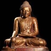 Buddha Pappmaschee Bhurma 19. Jh. (Galerie Darya)