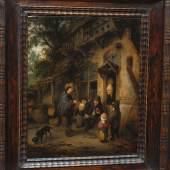 """Adrian van Ostade (1610 - 1685 Haarlem), """"Musikant vor einer Raststätte"""", Ansicht, Foto: Universalmuseum Joanneum"""