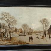 """Aert van der Neer (1603 Gorinchem - 1677 Amsterdam), """"Eisvergnügen, Ansicht, Foto: Universalmuseum Joanneum"""