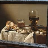 """Pieter Claesz (1596/1597 Berchem - 1661 Haarlem), """"Breakfast Piece"""", 1642, Ansicht, Foto: Universalmuseum Joanneum"""