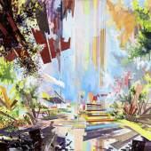 David Schnell (1971) Markt   2010   Öl auf Leinwand   110 x 180 cm Taxe: 20.000 – 30.000 Euro
