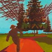 David Schnell (1971)  Der Läufer   2000   Öl, Kohle und Tempera auf Leinwand   230 x 160 cm Taxe: 60.000 – 80.000 €