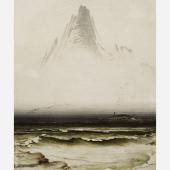 Daxer & Marschall Kunsthandel Peder Balke (Helgøya 1804-1887 Oslo) Mountain Stetind In The Fog