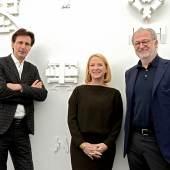 v.li.: Kommissär Christian Kühn, Nationalratspräsidentin Doris Bures, Architekt Andras Palffy Foto c Cameraphoto