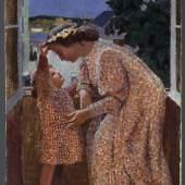Maurice Denis, Die Krone, um 1901, Öl auf Papier, auf Pappe geklebt  ©Bayerische Staatsgemäldesammlungen, Neue Pinakothek, München