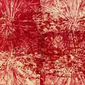 DENK ART 2020, Blood on Titanium White, 70 x 100 cm, ACRYL, HFPL, Foto: Wolfgang Mayer, © DENK ART