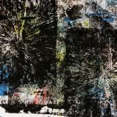 DENK ART 2020, POLYCOLORFIELD COMPOSITION WHITE CROSS STAR RETURN BLUE, 70 x 100 cm, ZEICHENKARTON, Foto: Wolfgang Mayer, © DENK ART