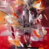 /  Deniz Alt. Form. Figur. Raum. /  Einzelfall 2021 Öl auf Leinwand / 99 x 120 cm