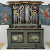 Der Maler der Bauernmusikanten Orgel aus der Kapelle Nossadunna in Lumbrein, Ende des 18. Jahrhunderts Kirchgemeinde Lumbrein Foto: Stefan Rohner