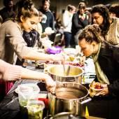 Detroit SOUP,  Monatliches Abendessen zur Aufbringung von finanziellen Mitteln für kreative Projekte in Detroit, Foto: David Lewinski