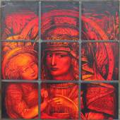Ernst Fuchs, Maria mit Kind