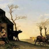 Paulus Potter (1625 – 1654), Viehaustrieb am Morgen, Öl/Eichenholz, 38,5 x 50 cm, Inv. Nr. 548, ehem. Sammlung Czernin, Aufnahme: Ulrich Ghezzi, Oberalm