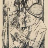 Der Nachhauseweg, 1919 Lithografie, 87 x 61 cm aus: Die Hölle, Blatt 1  Kunsthalle Bremen, Kupferstichkabinett, Kunstverein Bremen © Foto: Karen Blindow