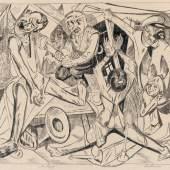 Die Nacht, 1919 Lithografie, 55,6 x 70,3 cm aus: Die Hölle, Blatt 7 Staatliche Kunsthalle Karlsruhe © Foto: Heike Kohler