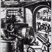 Die Kunst des Bierbrauens, Illustration um 1700  Foto SLUB Dresden