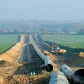 Die Trasse der Nordeuropäischen Erdgas Leitung