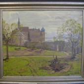 """Dieter, Hans, 1881 - 1968, Mannheim - Tuttlingen,  """"Partie am Bodensee"""", re.u.sign., Öl/Malerpappe, 62 x 73,5 cm, R. Aufrufpreis:450 EUR"""