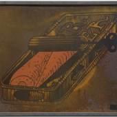 Dieter Roth, 'Wurzelbehandlung', 1971, Siebdruck auf Blech, 63 x 91 cm, Ph. Konzett