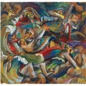 Otto Dix (1891-1969),  Schützengraben, um 1918,  Gouache auf Papier,  Privatbesitz Berlin © VG Bild-Kunst, Bonn 2019