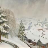 3217 OTTO DIX Wintertag in Randegg. 1933. Mischtechnik auf Holz. 60 x 80 cm. Ergebnis: CHF 174 000