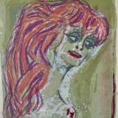 """DIX Otto (1891 Gera - 1969 Singen) """"Rothaariges Mädchen"""", als Brustbild Mindestpreis:2.500 EUR"""