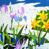 Andy Warhol (1928–1987) Do It Yourself (Flowers), 1962 Acryl, Bleistift und Letraset auf Leinwand 175.3 x 149.9 cm Daros Collection, Switzerland Photo: Daros Collection, Switzerland