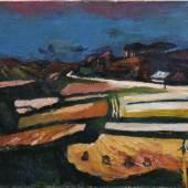 Josef Dobrowsky, Felder nach der Ernte, 1946 Öl auf Leinwand 75 x 94,5 cm © Belvedere, Wien / © Bildrecht, Wien, 2014