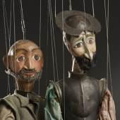 Don Quijote und sein Knappe Sancho Panza, Stabmarionetten von Kontanza Kavrakova-Lorenz, Puppentheater Erfurt, 1984. Schenkung Theater Waidspeicher, Erfurt. Copyright: SKD, Foto: Frank Höhler