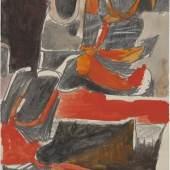 Van Doren Waxter, Richard Diebenkorn Untitled c. 1952 Gouache and graphite on paper 11 x 8 1/2 inches (27.9 x 21.6 cm) CR no. 1148 © The Richard Diebenkorn Foundation