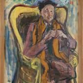 Johanna Dorn, Alfred Kubin Porträt, 1952, Öl auf Hartfaserplatte, Landesgalerie Linz / Foto: Land OÖ, E. Grilnberger