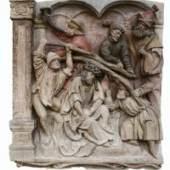 Dornenkrönung, frühes 16. Jahrhundert Breitenbrunner Kalksandstein mit Resten der Erstfassung von 1581 Stephansdom, Wien  © BDA, Foto: Irene Dworak