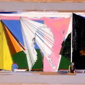 Dieter Roth Szenenbild , 1973 Tinte, Ölfarbe und Acrylfarbe auf Graupappe 50 x 69 cm Dieter Roth Foundation, Hamburg © Dieter Roth Estate / Courtesy Hauser & Wirth / Di eter Roth Foundation, Hamburg