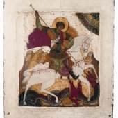 Der Drachenkampf des hl. Georg, Russland, Anfang 16. Jh.