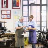 Druckwerkstatt im Museum der Arbeit, Foto SHMH, Sinje Hasheider