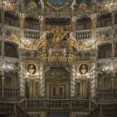 Bildtitel: Markgräfliches Opernhaus Bayreuth nach der Restaurierung, Blick zur Fürstenloge  Foto: Achim Bunz