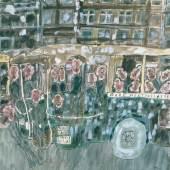 Jean Dubuffet, Autobus Gare Montparnasse, 1961  Autobus Bahnhof Montparnasse Gouache auf Papier, 67 x 67 cm Foto: Cantz Medienmanagement, Ostfildern