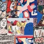 Jean Dubuffet, Incitations divergentes, 1976  Anregungen in verschiedenen Richtungen Acryl auf geleimtem Papier auf Leinwand, 28 Teile, 173 x 291cm Foto: Christian Baur