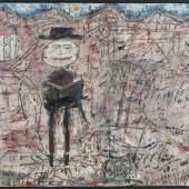 Jean Dubuffet, Le voyageur égaré, 1950  Der verirrte Reisende Öl auf Leinwand, 130 x195 cm Foto: Cantz Medienmanagement, Ostfildern