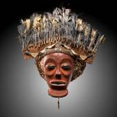 Cihongo mask with feather headdress, Galerie Bernard Dulon