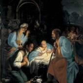 Carlo Saraceni, gen Carlo Veneziano, Geburt Christi, Öl/Kupfer, 36,5 x 29 cm, Residenzgalerie Salzburg, Inv. Nr.: 393