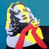 Alfred Eckart: Marlene Dietrich. Foto: Städt. Museum Überlingen