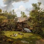Friedrich Gauermann (1807-1862) Die Leinersäge beim Lachenbauer, 1826 Limit € 25.000