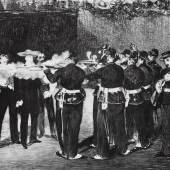 Édouard Manet L'Exécution de Maximilien, 1868–69 [Die Exekution Maximilians] Lithographie 33,3 x 43,2 cm Museum der Moderne Salzburg Foto: Rainer Iglar