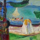 Edvard Munch, Embrace on the Beach (The Linde Frieze), est. £9-12 million